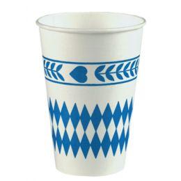 PAPSTAR Papp-Trinkbecher Bayrisch Blau, 0,2 l