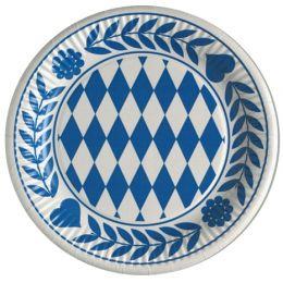 PAPSTAR Pappteller Bayrisch Blau, Durchmesser: 230 mm
