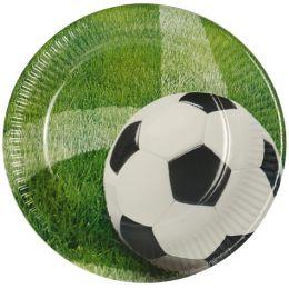 PAPSTAR Pappteller Football, Durchmesser: 230 mm
