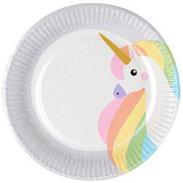 PAPSTAR Pappteller Unicorn, Durchmesser: 230 mm