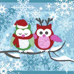 PAPSTAR Weihnachts-Motivservietten Snowy Owls