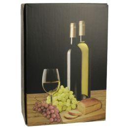 PAPSTAR Wein-Präsentkarton Weißwein, für 3 Flaschen
