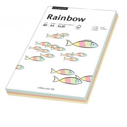 PAPYRUS Multifunktionspapier Rainbow, A4, Pastellfarben-Mix