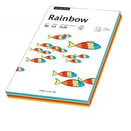 PAPYRUS Multifunktionspapier Rainbow, A4, Intensivfarben-Mix