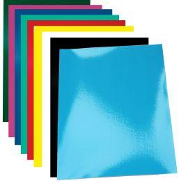 pavo Einbanddeckel Chromolux, glänzend, DIN A4, blau