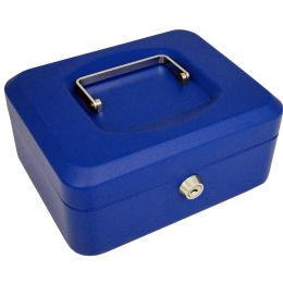 pavo Geldkassette, blau, Maße: (B)150 x (T)115 x (H)80 mm