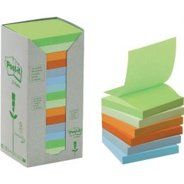 Post-it Haftnotizen Recycling Z-Notes, 76 x 76 mm, 6-farbig
