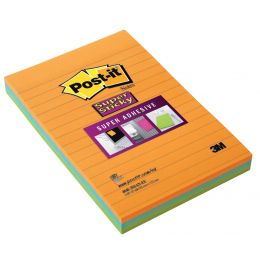 Post-it Haftnotizen Super Sticky Notes, 102 x 152 mm