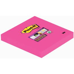 Post-it Haftnotizen Super Sticky Notes, 76 x 76 mm, ultrarot