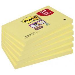 Post-it Haftnotizen Super Sticky Notes, 76 x 127 mm, 5+1