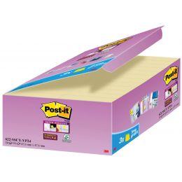 Post-it Haftnotizen Super Sticky Notes, 48 x 48 mm, gelb