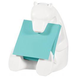 Post-it Super Sticky Z-Notes Spender BEAR, weiß, bestückt