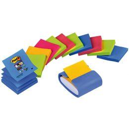 Post-it Z-Notes Spender, hellblau, bestückt, Vorteilspack