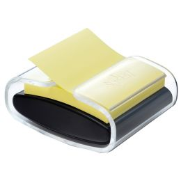 Post-it Z-Notes Spender, schwarz/transparent, bestückt