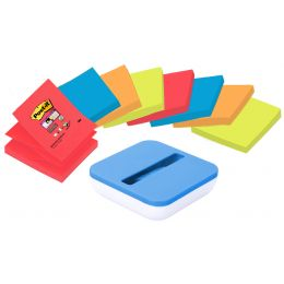 Post-it Z-Notes Spender, blau/weiß, bestückt