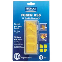 PRONOVA Fugen ASS für Silikon und Acryl, gelb