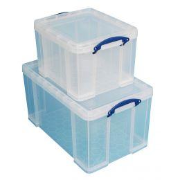 Really Useful Box Aufbewahrungsbox 2er-Set, 35 L / 84 Liter