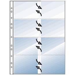 REXEL Visitenkarten-Prospekthülle für 16 Karten, A4, PP