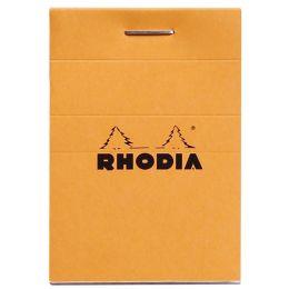 RHODIA Notizblock No. 10, DIN A8, kariert, orange