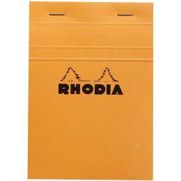 RHODIA Notizblock No. 13, DIN A6, kariert, orange