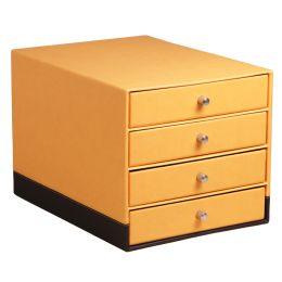 RHODIA Schubladenbox, aus Kunstleder, 4 Schübe, orange