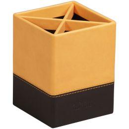 RHODIA Stifteköcher, aus Kunstleder, orange