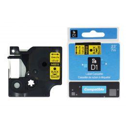 rillstab Schriftbandkassette, schwarz/gelb, 12 mm x 7 m