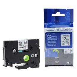 rillstab Schriftbandkassette, schwarz/transparent, 9mm x 8m