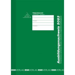 RNK Verlag Ausbildungsnachweis-Heft, wöchentlich/monatlich