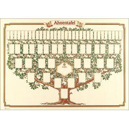RNK Verlag Schmuck-Ahnentafel Skizzierter Baum, 70 x 50 cm