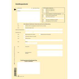 RNK Verlag Vordruck Zustellungsurkunde, DIN A4