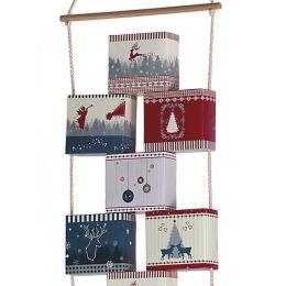 ROTH Adventskalender Adventsboxenkette Nordic zum Befüllen
