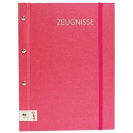 ROTH Zeugnismappe Metallium mit Buchschrauben, pink