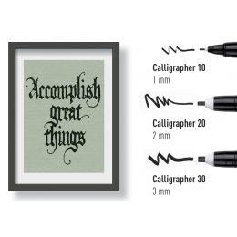 SAKURA Kalligraphie-Stift PIGMA CALLIGRAPHER, 3er Etui