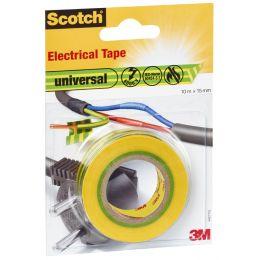 Scotch Isolierband universal, 15 mm x 10 m, gelb / grün