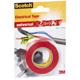 Scotch Isolierband universal, 15 mm x 10 m, rot