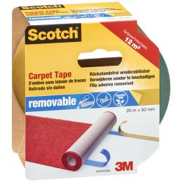 Scotch Teppichklebeband wiederablösbar, 50 mm x 7 m, blau