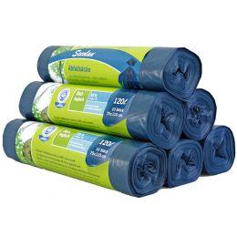 Secolan Abfallsack, blau/schwarz, 120 Liter