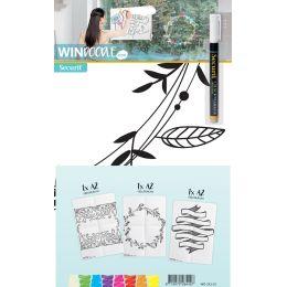 Securit Fensterschablonen-Set WINDOODLE, Rahmen-Motiv