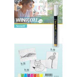 Securit Fensterschablonen-Set WINDOODLE, Tier-Motiv 1