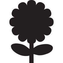 Securit Kreidetafel SILHOUETTE Blume