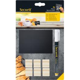 Securit Kreidetafelschilder + Halterung TEAK im Set