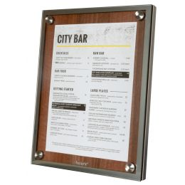 Securit Schaukasten GLASS STAR, 1 x DIN A4 Seite, wallnuss