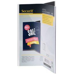 Securit Tischaufsteller ACRYLIC, DIN A6 hoch, dreiseitig