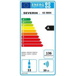 SEVERIN Wein-Klimaschrank KS 9894, schwarz