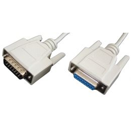 shiverpeaks BASIC-S 15 Pol Sub-D Kabel, Stecker - Kupplung