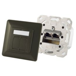 shiverpeaks BASIC-S Anschlussdose Kat. 6A, 2 x RJ45, rot