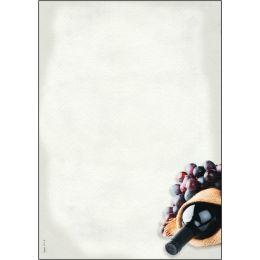 sigel Design-Papier, DIN A4, 90 g/qm, Motiv Menü Wein