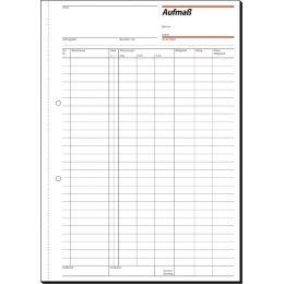 sigel Formularbuch Aufmaßbuch, A4, 50 Blatt, Blaupapier