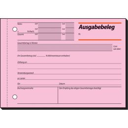 sigel Formularbuch Ausgabebeleg, A6 quer, 50 Blatt